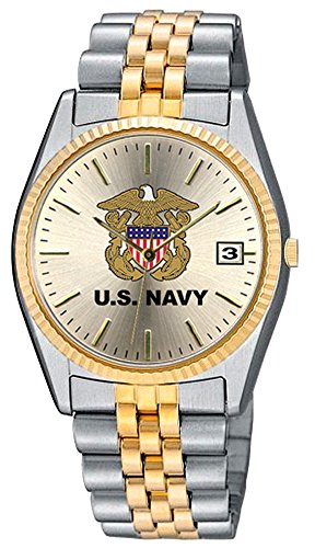 Aqua Force Navy Emerge Watch with 38mm Gold Face