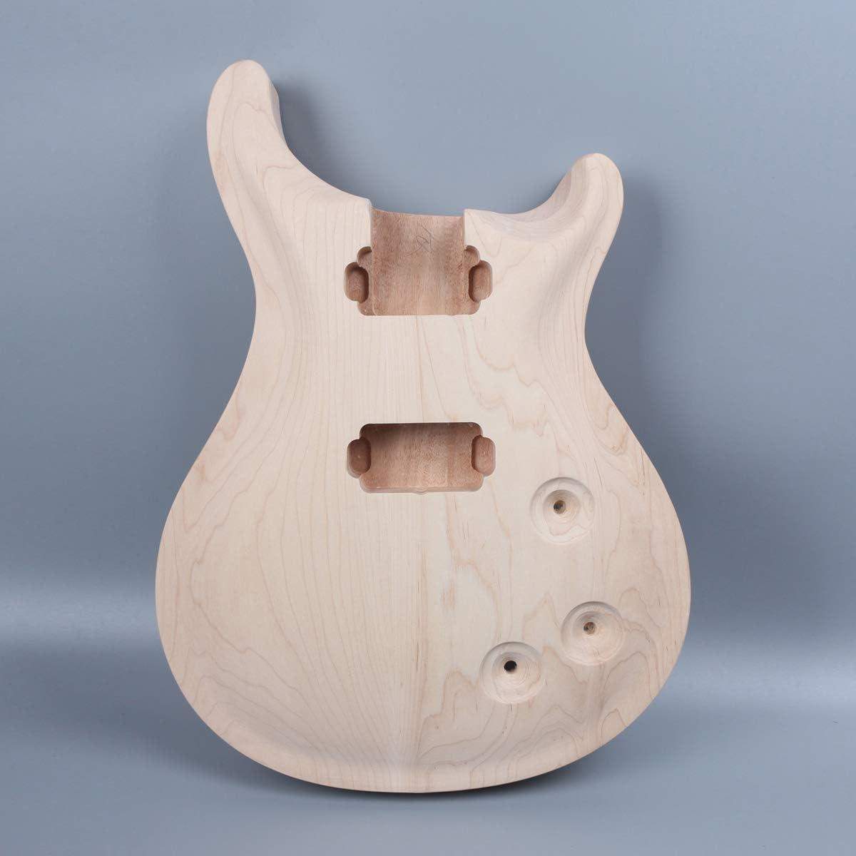 Juego de repuesto para guitarra eléctrica de madera de arce de caoba sin terminar