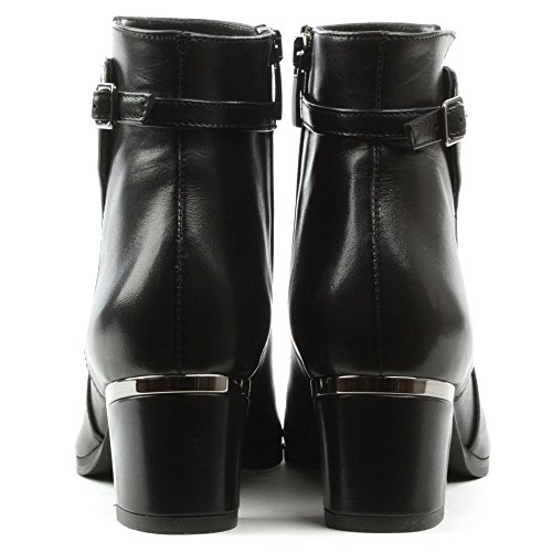 Metal Leather Ankle Buckle Leather Daniel Black Boot Enthusiastic Trim Black qxwtw4Fp