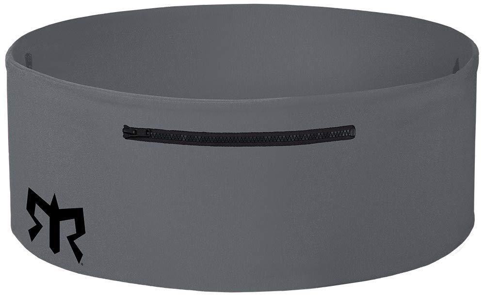 Ragnar Edition Wearable Fitness Waistband Travel & Sports Storage Waist Belt (Grey w/Black Zipper, XS/S)