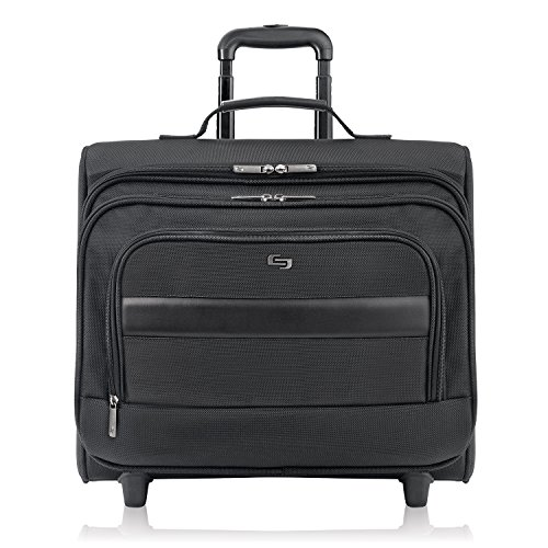 Solo Columbus 15.6 Inch Rolling Laptop Overnighter Case with Removable Sleeve, Black