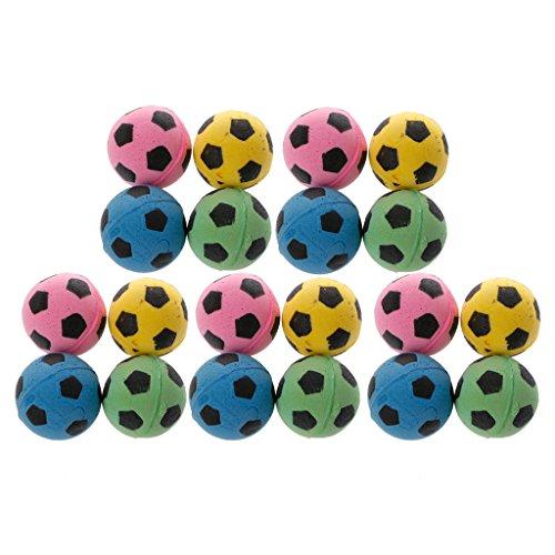 (Milue 20PCS Non-Noise Cat EVA Ball Soft Foam Soccer Play Balls For Cat Scratching Toy)