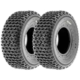 Set of 2 SunF A012 XC Sport-Racing ATV/UTV Off-Road Tires 19x7-8, 6PR, Knobby Tread
