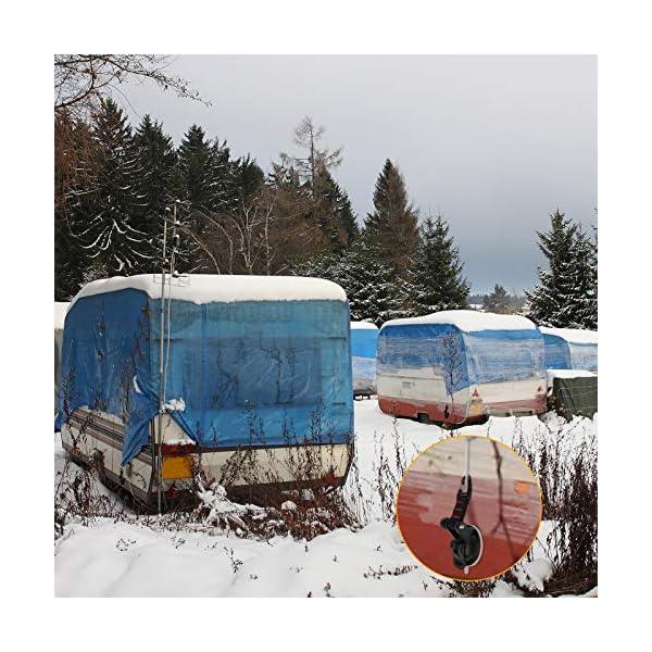 51ofh8ZT5nL 4 Stücke Saugnapf Anker mit Befestigung Haken Festbinden, Saugnapf Befestigung Haken für Auto Seitige Markisen Zelte…