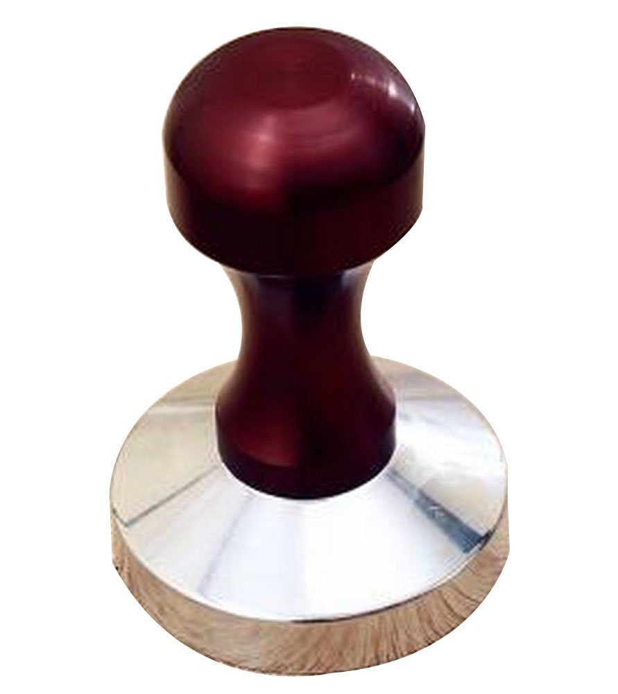 24station Stainless Steel Espresso Hand Tamper Whorl Base 58mm [Red]