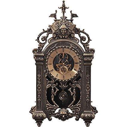 ZHOUYANGran Reloj Retro Continental Creativa Sala de Estar Relojes Antiguos Reloj de Péndulo Antiguo Reloj de