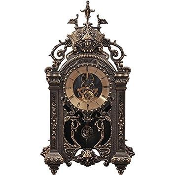 ZHOUYANGran Reloj Retro Continental Creativa Sala de Estar Relojes Antiguos Reloj de Péndulo Antiguo Reloj de Bronce Reloj mecánico Reloj de la Vendimia ...