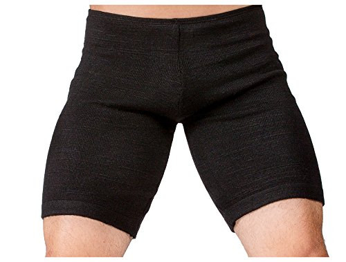 Black Medium Men's Dance Shorts Low Rise Stretch Knit Yoga KD Dance Dancewear Men's Gym Shorts Flexible Unique Made in USA ()