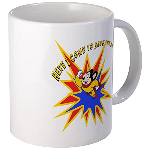 CafePress - Mighty Mouse Save The Day Mug - Unique Coffee Mug, Coffee Cup (Retro Mighty Mouse)