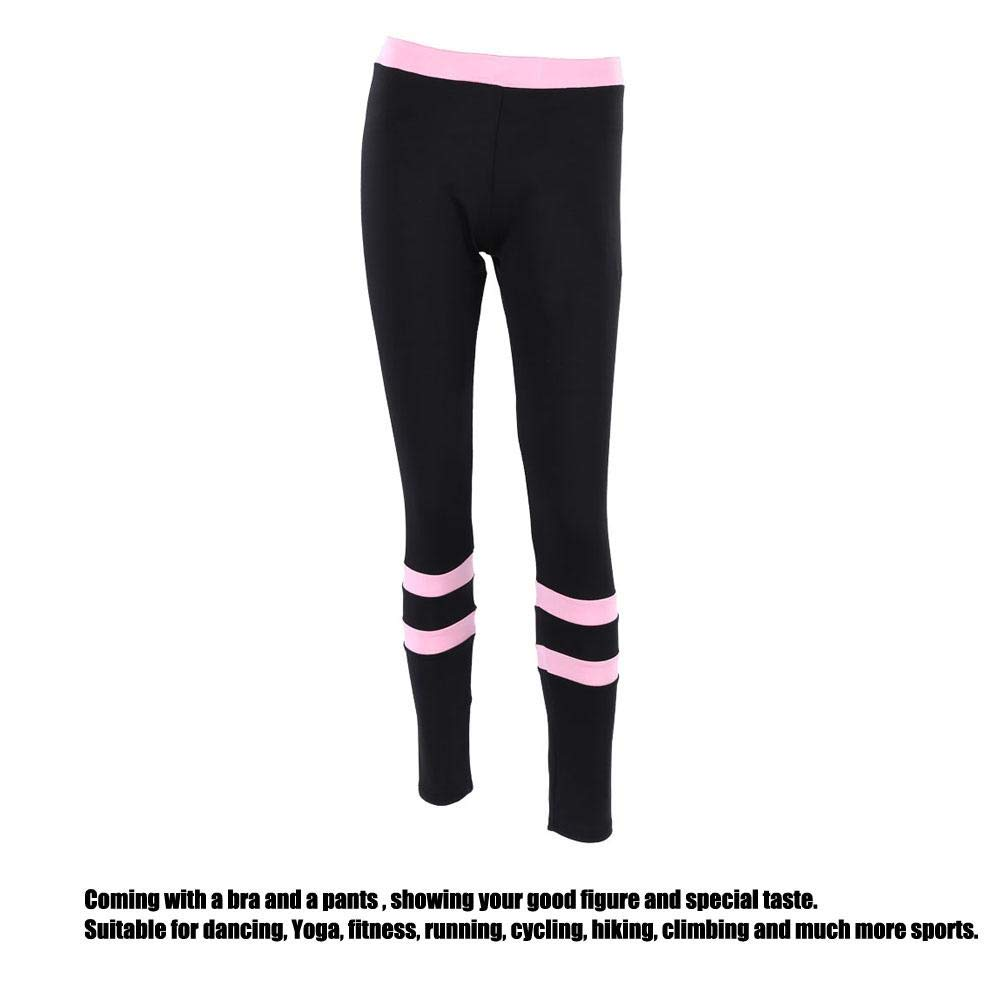 Pantalone da Yoga Leggings da Ginnastica Zer one Tuta Sportiva da Donna Bicolore Comoda Tuta Sportiva da Ginnastica Tuta Sportiva Imbottita Reggiseno Sportivo Yoga