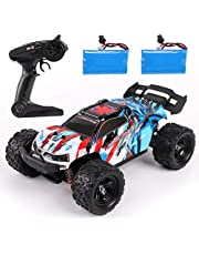 REMOKING RC Car,36KM/H High Speed RC Truck,1/18 Scale 2.4Ghz Remote Control Racing Car Toy ,4X4 Radio Controlled Off-Road Car with 2 Rechargeable Batteries,Best Gifts for Kids and Adults