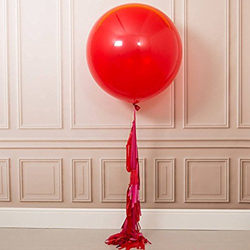 FONBALLOON PARTY FindFun 3PCS Red Valentine's Tassel Tail Giant Balloon((3 Pack)