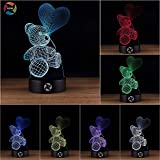 3D Optical Illusion Night Light - 7 LED Color
