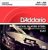 D\'Addario EJ61 Nickel Wound Banjo Strings - .010-.023 Medium 5-Str