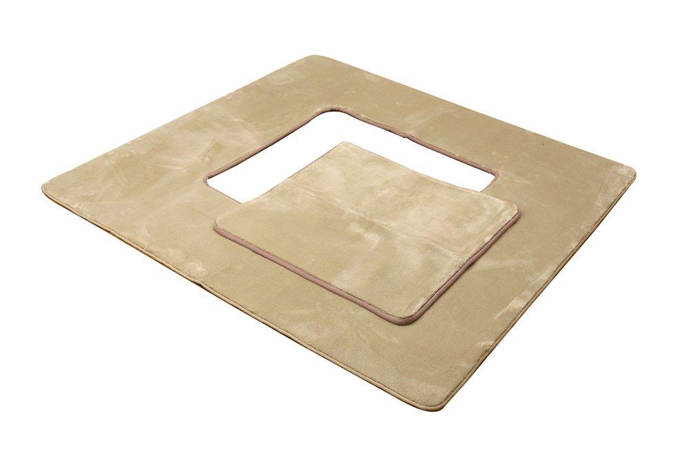 イケヒコ 堀りごたつ ラグ カーペット 4畳 無地  『Hフランアイズ堀』 ベージュ 約200×300cm(くり抜き部90×150cm) ホットカーペット対応 B00PDP4UTE ベージュ 掘りこたつ用 200×300cm