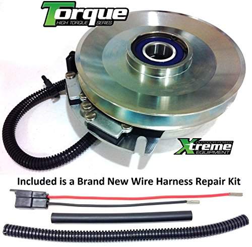 Xtreme Outdoor Power Equipment Bundle - 2 Items: PTO Electric Blade Clutch, Wire Harness Repair Kit. X0460 Replaces Exmark PTO Blade Clutch 109-7666 OEM Upgrade w/Wire Harness Repair Kit