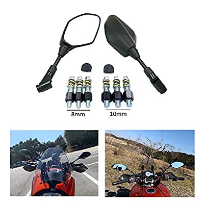 Universal 8MM 10MM Reverse Side Mirrors Motorcycle Mirrors for Yamaha Kawasaki Suzuki KTM BMW Ducati Aprilia Moto Guzzi MV Agusta Triumph Buell GY6 Scooter Dirt Street Bike Cruiser Victory Honda ATV: Automotive