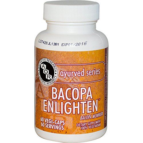 Advanced Orthomolecular Research AOR Bacopa Enlighten Capsules, 60 Count by Advanced Orthomolecular Research AOR