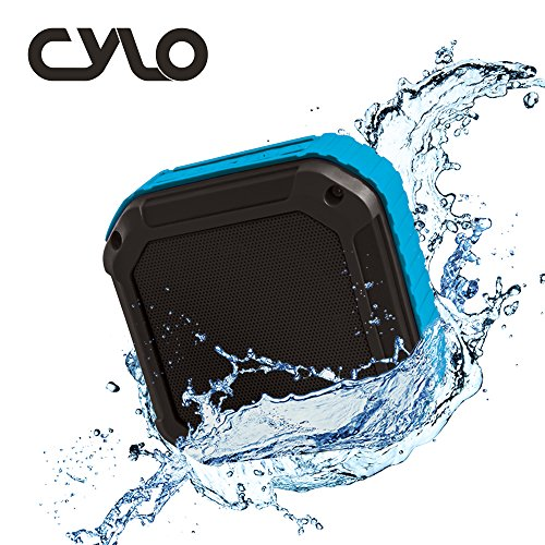CYLO Tough Heavy-Duty Sound Square IPX6 Portable Waterproof Bluetooth Speaker Rugged and Wireless with 4-Hour Playtime, Powerful 3.0 Watt Output, 33-Foot Bluetooth Range with Shockproof Capability