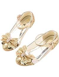 Baby Girls Princess Shoes Glitter Medium Heel Dance Shoes