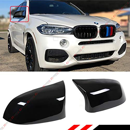 - Cuztom Tuning Fits for 2014-2018 BMW X3 X4 X5 X6 Painted Glossy Black Side Mirror Cover Caps Replacement- M Style