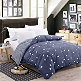 Lirex Duvet Cover, Twin Size Premium Soft Brushed