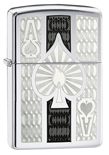 Zippo High Polish Chrome Spade Pocket Lighter