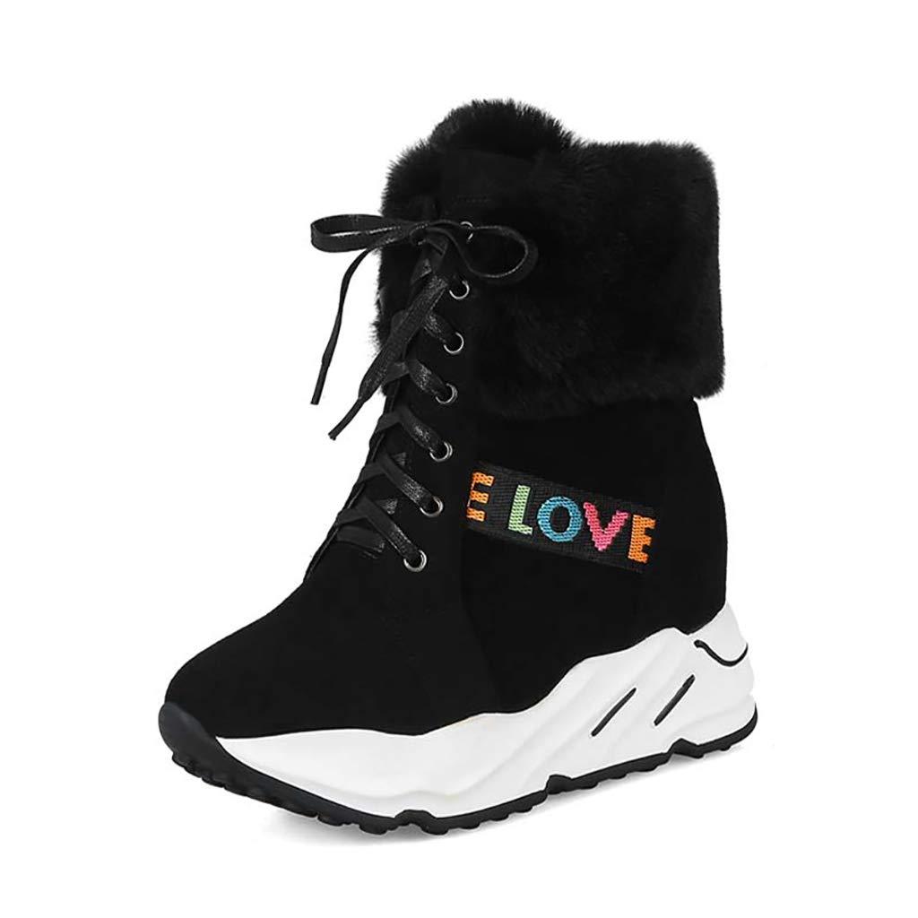 YUBIN Winterplattform Für Für Für Damen Mit Samtigen Und Anti-Skischuhen, Schwarz (Farbe   SCHWARZ, größe   EU 38 US 6 UK 5 JP 24cm) cb171a