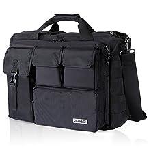 "Lifewit 17.3"" Men's Military Laptop Messenger Bag Tactical Briefcase Computer Shoulder Handbags"