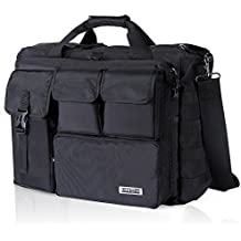 "Lifewit 17.3"" Men's Military Laptop Messenger Bag Multifunction Tactical Briefcase Computer Shoulder Handbags, Black"