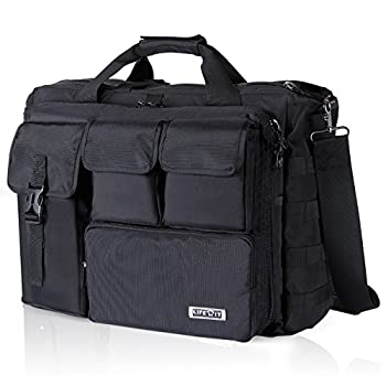 - 51ofkfDbzqL - Lifewit 17″ Men's Military Laptop Messenger Bag Multifunction Tactical Briefcase Computer Shoulder Handbags, Black