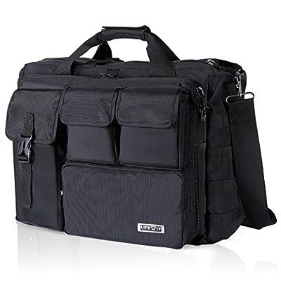 - 51ofkfDbzqL - Lifewit 17″ Men's Military Laptop Messenger Bag Multifunction Tactical Briefcase Computer Shoulder Handbags, Black