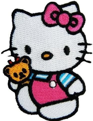 Dibujo de R, M, A, shops Hello Kitty Cat (rosa) bordado para ...