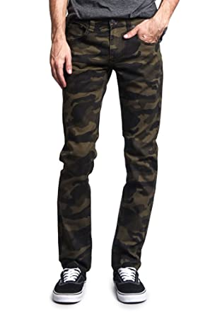 a909f3fab9afbf Victorious Mens Camouflage Skinny Fit Jeans at Amazon Men's Clothing ...