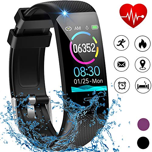 Beaulyn Fitness Tracker HR, Activity Tracker with Heart Rate Monitor, Sleep Monitors, Calorie, Pedometer, IP67 Waterproof Smart Watch for Android and iOS Phones for Kids Women Men