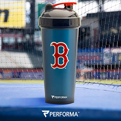 - Performa Perfect Shaker - MLB Collection, Best Leak Free Bottle with Actionrod Mixing Technology for Your Sports & Fitness Needs! Dishwasher and Shatter Proof (Red Sox)