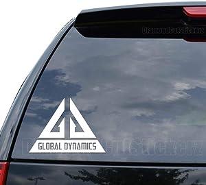 Eureka Global Dynamics Decal Sticker Car Truck Motorcycle Window Ipad Laptop Wall Decor - Size (07 inch / 18 cm Wide) - Color (Matte Black)