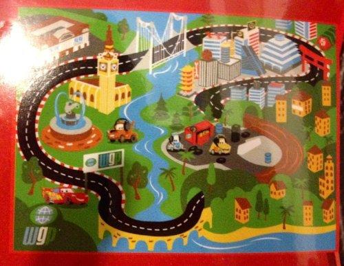 Disney Pixar Cars Game Rug with Two Cars (Disney Pixar Cars Rug)