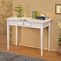 Williams Home Furnishing Bodai White 1-drawer Desk