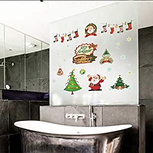 Amazon.com: Happy New Year Wall Stickers,Christmas Series ...