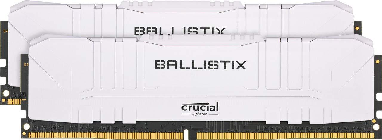 Crucial Ballistix BL2K8G30C15U4W 3000 MHz, DDR4, DRAM, Desktop Gaming Memory Kit, 16GB (8GB x2), CL15, White