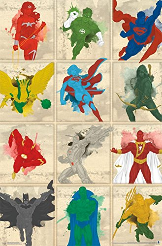 Justice League- Simplistic Grid Poster 22 x 34in ()