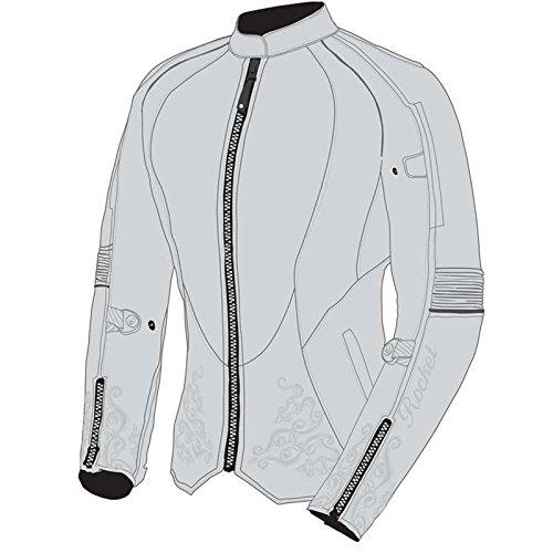 Joe Rocket Heartbreaker 3.0 2015 Ladies Textile Jacket Gray/Sliver LG