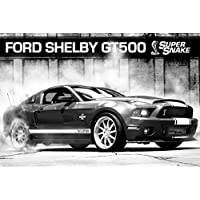 1art1 Supersnake 66118 Car Poster Ford Mustang Shelby GT500 91 x 61 cm