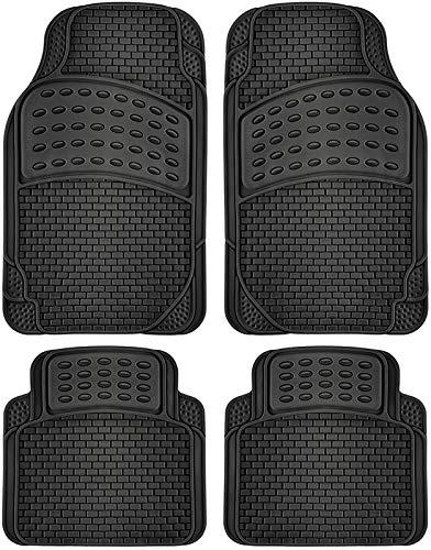Motorup America Auto Floor Mats (Set of 4) - Fits Select Vehicles Car Truck Van SUV - Black