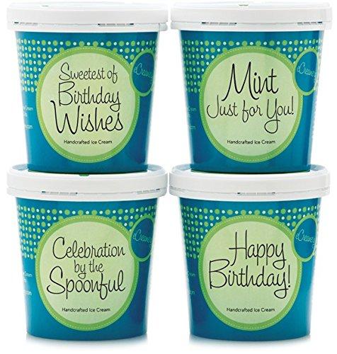 eCreamery Birthday Gift - Premium Handcrafted Ice Cream 4 Pack -