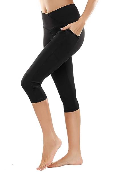 9a1dc60e58fee Yoga Pants,BESTENA Womens Leggings Capri High Waist Tummy Control Workout  Running Pants With Pockets