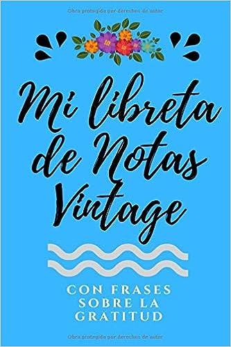 Libreta De Notas Vintage Rayada Con Frases De Inspiración