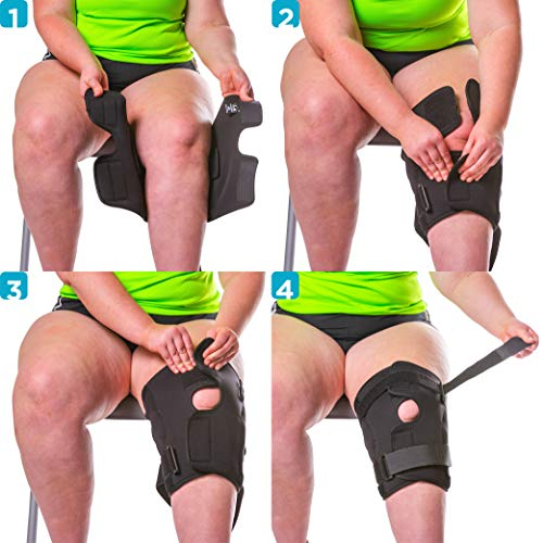 d87a10e9b5 BraceAbility 6XL Plus Size Knee Brace | Bariatric Hinged Knee Wrap for Big  & Wide Thighs