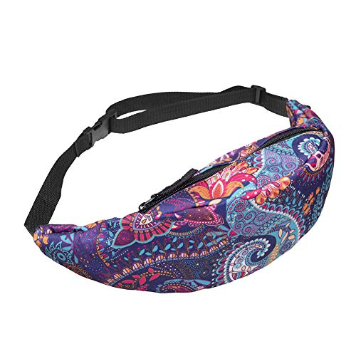 Yamalans Waist Bag Fanny Packs,Fashion Printed Hip Bum Pouch
